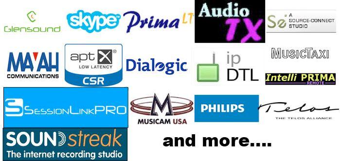 CDQ Prima, Telos Zephyr, Glensound, APTx, Dialog, Philips, Music Taxi , Source connect now, ipdtl, source connect, audiotx , aptx, skype, Session Link Pro, Soundstreak